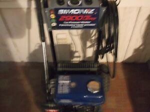 simoniz 2900 p s i gas pressure washer excellent condition