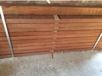 Solid hardwood mahogany timber 216x10x6.5. Cm each peice