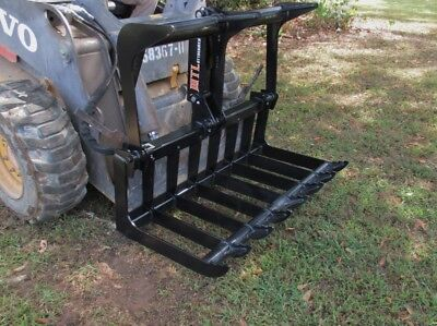 Mtl Dingo-vermeer Mini Skid Steer 42 Quick Attach Hd Root Grapple -ship 149