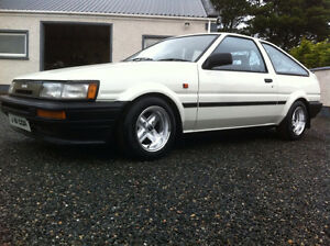 "Wanted""1987 Toyota Corolla Coupe ae86 , 4age"