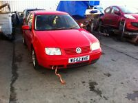 vw bora headlight ,bumper , bonnet boot lid ,doors etc all parts available