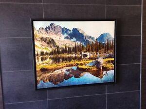 Photography Artwork Mountain Scene Printed on Metal