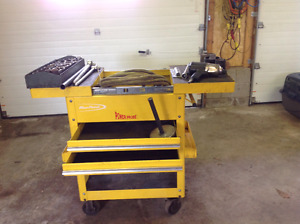 Mechanic cart and 3/4 tool set