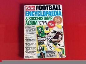 The Sun 1971-72 Football Encyclopaedia & Soccerstamp album