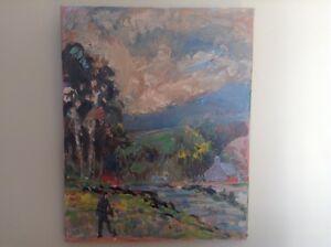 Claude Gianolla, peinture à huile, tableau original, 1980-1990