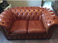 Tan Chesterfield Sofa