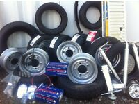 Trailer parts trailer wheels tyres for ifor Williams Dale Kane nugent Hudson
