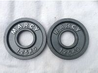 2 x 1.25kg Marcy Olympic Cast Iron Weights