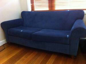 Home Clearance - Navy Blue - 3 seat Freedom sofa couch Ivanhoe Banyule Area Preview