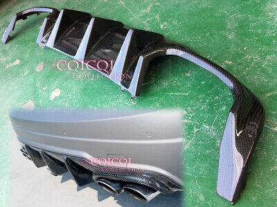 Carbon MERCEDES BENZ 12~14 W204 C63 AMG C250 sport Sedan rear diffuser ◎ for sale  Shipping to United States