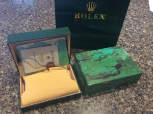 Rolex watch box, gift bag, hang tag and papers
