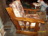 Beautiful wooden chair for sunroom, basement or Recroom