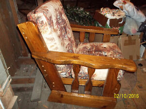 Beautiful wooden chair for sunroom, basement or Recroom Windsor Region Ontario image 1