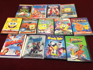 Collection of 13 Children's Movie DVDs