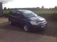 2010 Vauxhall zafira 1.6 I Exclusiv blue 7 seater motd March 17