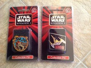2 Star Wars Episode I pins