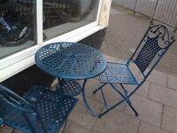 Garden table set Upcycled