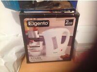 Brand new (Elgento) white Jug Kettle 1.7 litre ( Boxed)