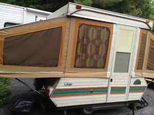 1977 Lextra all original Camping tent trailer