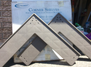 Set of 2 corner shelves for Suncast sheds NEW in box