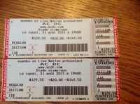 Billet ACDC 31 Aout Stade olympique