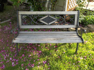 Metal and wood bench for your garden