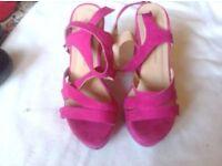 Atmosphere ladies sandals pink size 4/37 used £3