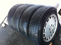 4 all-season Hankook tires with Metcedes rims