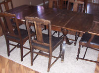 Stratford chairs (6) and antique table $225.00