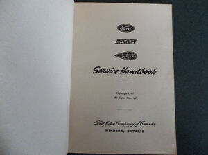 1932 1933 1934 1936 1941 Ford Mercury Lincoln Service Handbook London Ontario image 2