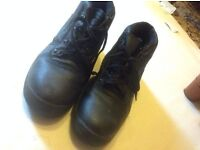 Steel toed work boots, site boots Size: 11/45 used £3