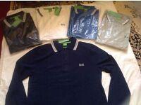Hugo boss mens polo t shirt long sleeves £18 each cotton