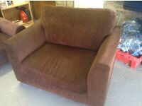 Brown cuddle chair