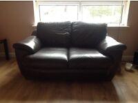 Brown Leather 2 seater sofa £75 ono