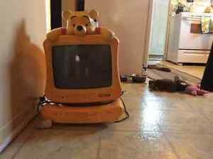 Winnie the Pooh television dvd player RARE