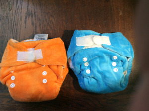 2 cloth diapers