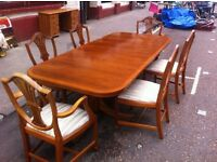 Large dining table + 6 Chairs + corner Cabinet