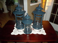 Three lanterns for candles