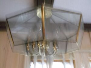 110 volt hanging lamp with 6 tear drop bulbs excellent condition