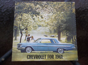 1961 Chevrolet dealer showroom catalog