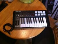 M-audio keyboard and beat pad
