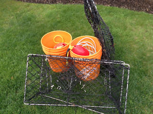 2 collapsible Crab Traps c/w 125 ' sinking line, weights, buoys
