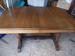 Antique solid hardwood table no chairs