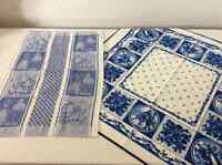 Delft Blue > tea towel & tablecloth