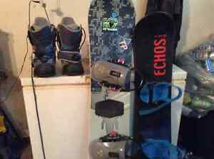 Snowboards and gulf clubs