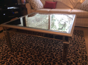 Stunning Mirrored Coffee Table