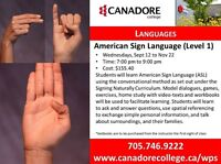American Sign Language - Parry Sound, Canadore College