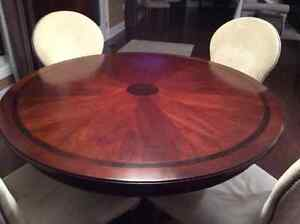 Dining set with leaves and cabinet