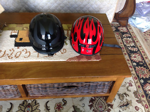 1 new motorcycle helmet $60 each vest 4xl $60