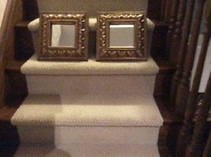 Square gold accent mirrors x2